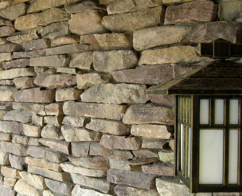 Ledgestone natural stone veneer house exterior