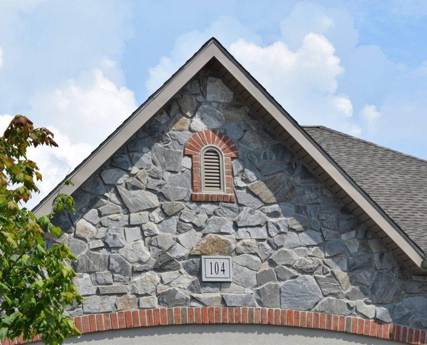 Natural Stone Veneer House Gable
