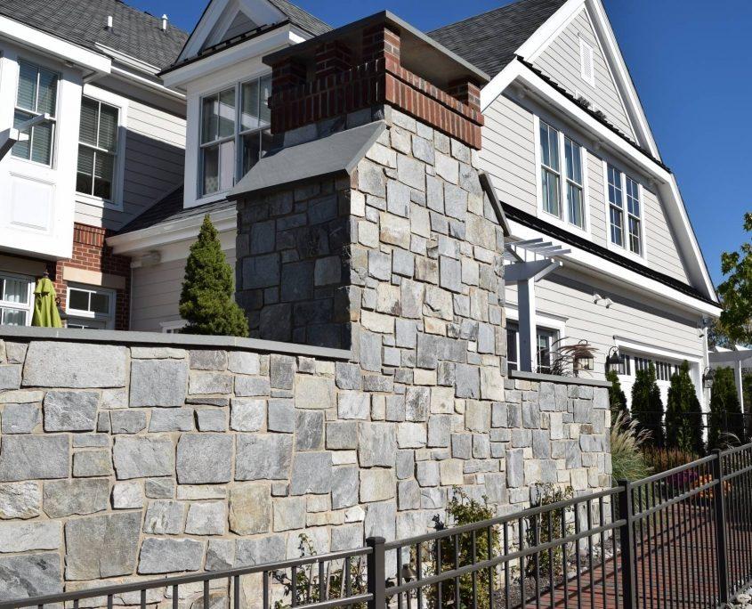 Square & Rectangle Natural Stone Veneer Wall
