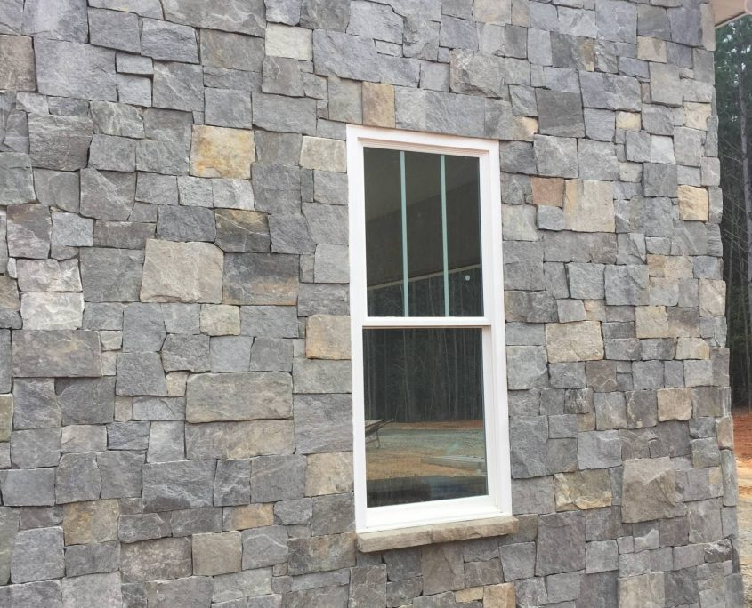 Natural thin stone house exterior