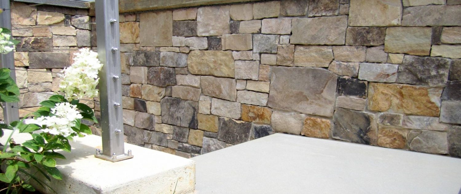 natural veneer stone on house